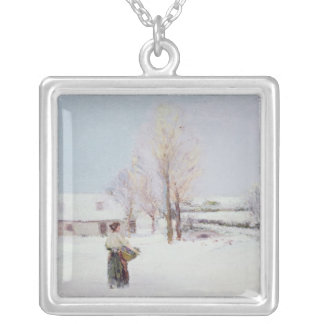 Walk through the Snow Silver Plated Necklace