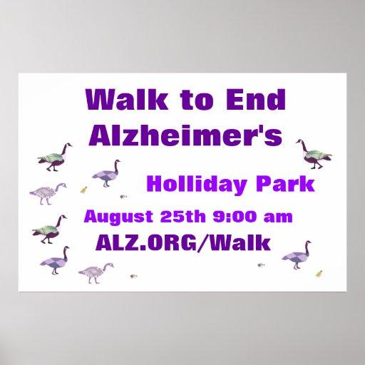 Walk to End Alzheimer's Banner Poster