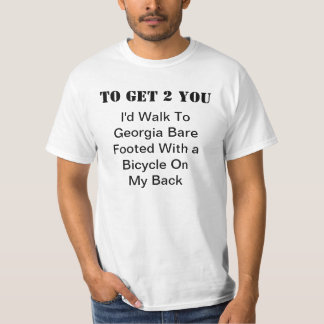 Walk To Georgia Bare Footed T-Shirt