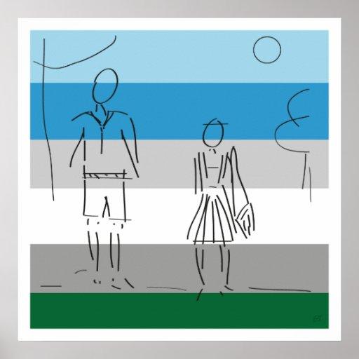 Walk to School Print by Graham Johnston