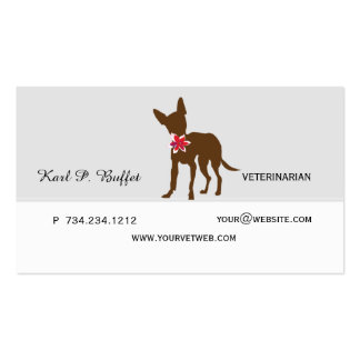 Walk With Me! Animal Professional  Veterinarian Pack Of Standard Business Cards