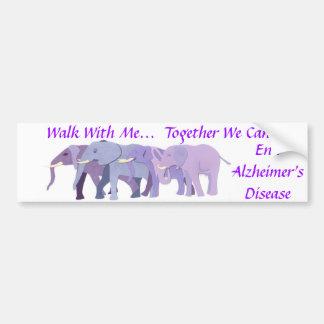 Walk With Me Bumper Sticker