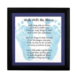 Walk with me Mama Large Square Gift Box