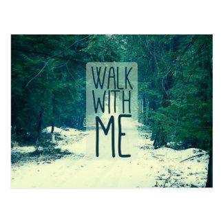 Walk WIth Me Postcard