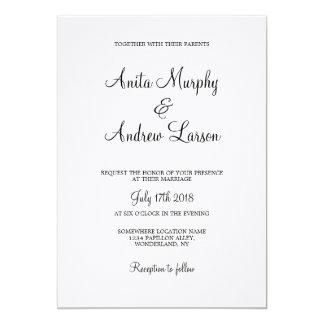 'Walk with Me' Wedding Invitation Design