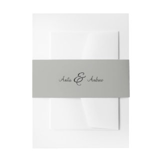 'Walk with Me' Wedding Invitations Belly Band Invitation Belly Band
