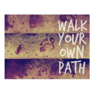 Walk Your Own Path Postcard