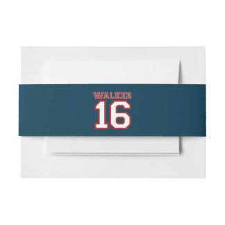 Walker 16 Campaign Jersey Invitation Belly Band