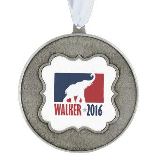Walker 2016 Pro GOP Candidate Design Scalloped Ornament
