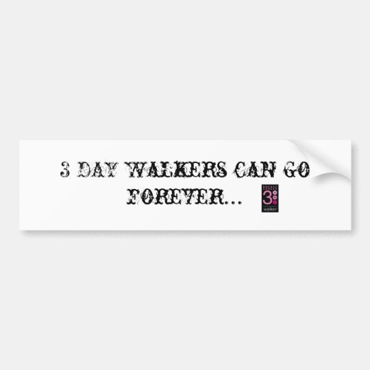 Walker Bumper Sticker