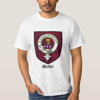 Walker Clan Crest Tshirt / Walker Tartan