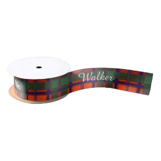Walker clan Plaid Scottish kilt tartan Satin Ribbon