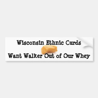 Walker Curds & Whey Bumper Sticker