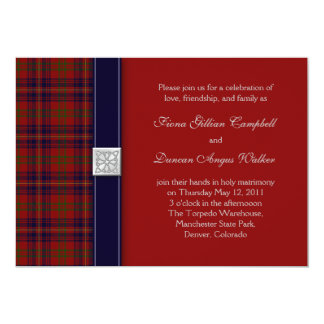 Walker Evening Tartan Celtic Wedding Invitation