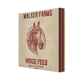 Walker Farms Horse Feed Sack Gallery Wrapped Canvas