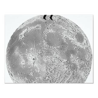 Walker on the moon 11 cm x 14 cm invitation card
