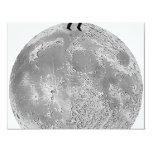 Walker on the moon custom invitation