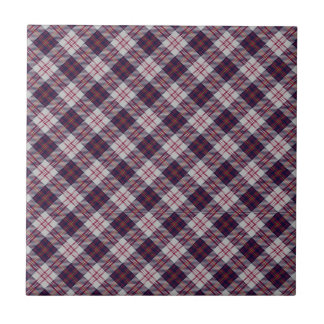 Walker Scottish Clan Tartan Design Small Square Tile