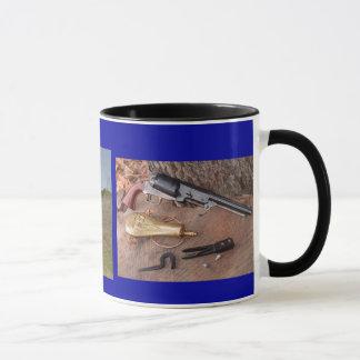 walker stilllife and revolvers in action. mug