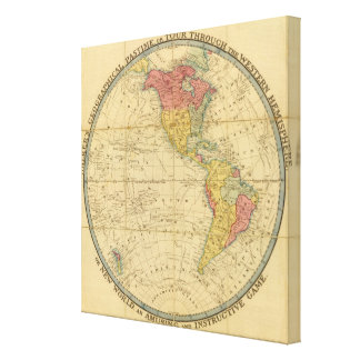 Walker's Geographical Pastime maps Stretched Canvas Print