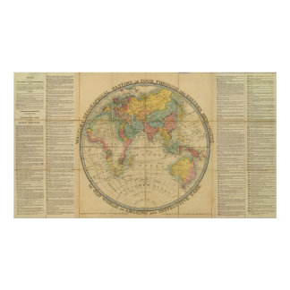 Walker's Geographical Pastime Poster