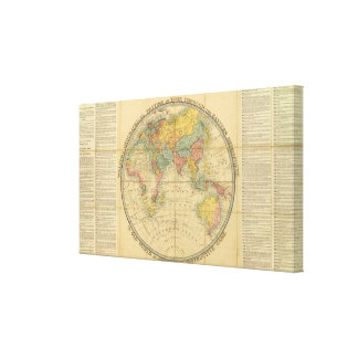 Walker's Geographical Pastime Stretched Canvas Print