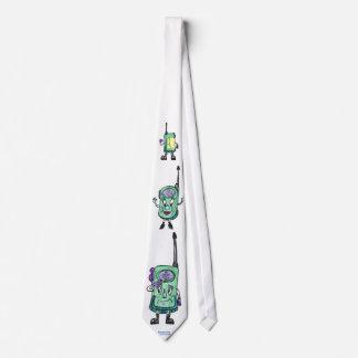 Walkie Talkies, animated, fun, green Tie