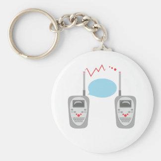 Walkie Talkies Basic Round Button Key Ring