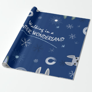 Walkign in a winter wonderland wrapping paper