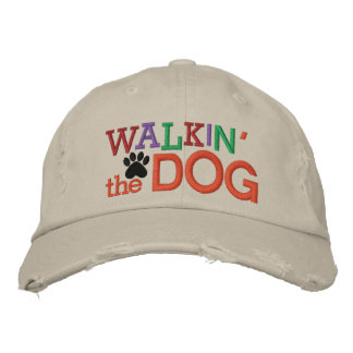 Walkin' the Dog Embroidered Hats