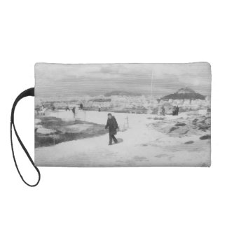 Walking among snow and ice wristlet purses