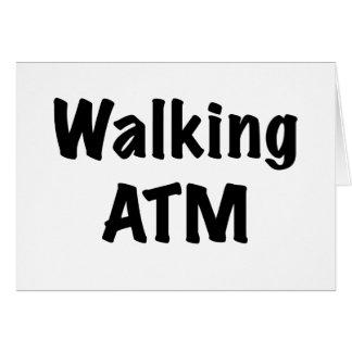 Walking ATM Greeting Card