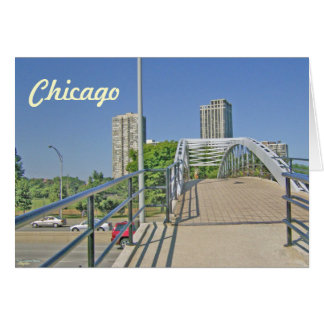 Walking Back to Chicago from the Beach Greeting Card