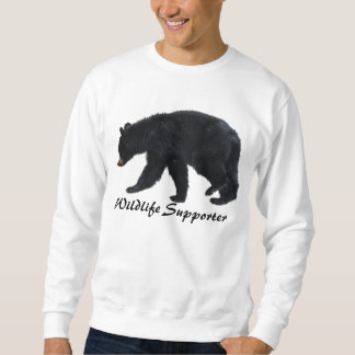 Walking Black Bear Animal Lover Apparel Sweatshirt
