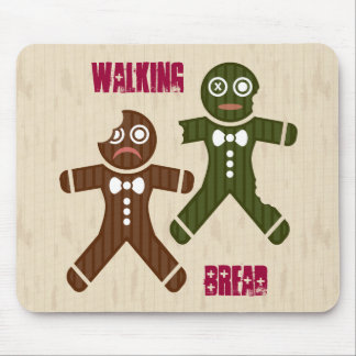 Walking Bread Mouse Pad