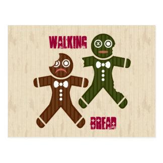 Walking Bread Postcard