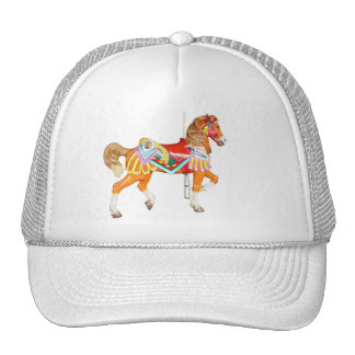 .Walking Brightly Painted Carousel Pony Cap
