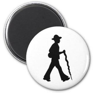 Walking Carpenter 6 Cm Round Magnet