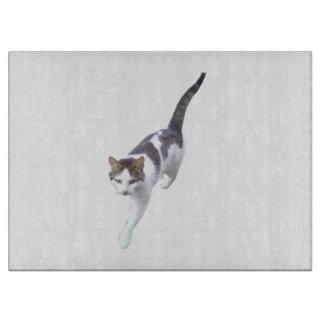 Walking cat cutting board