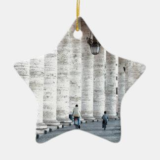 walking cycling ceramic star decoration