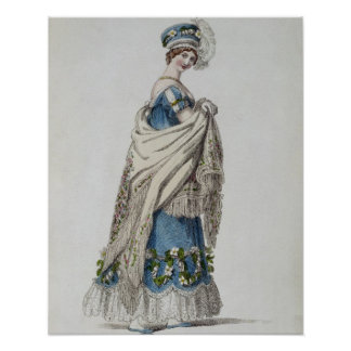 Walking dress fashion plate from Ackermann s Repo Print
