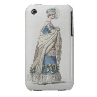 Walking dress, fashion plate from Ackermann's Repo Case-Mate iPhone 3 Cases