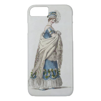 Walking dress, fashion plate from Ackermann's Repo iPhone 8/7 Case