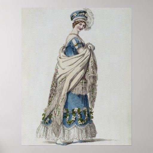 Walking dress, fashion plate from Ackermann's Repo Print