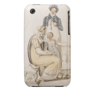 Walking Dresses, fashion plate from Ackermann's Re iPhone 3 Cover
