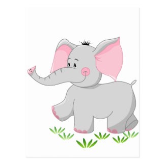 Walking elephant for children postcard