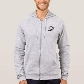 Walking Fish Atheism Zip Hooded Sweatshirt