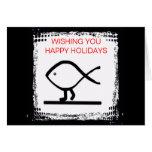 Walking Fish Happy Holidays Prosperous Year Card