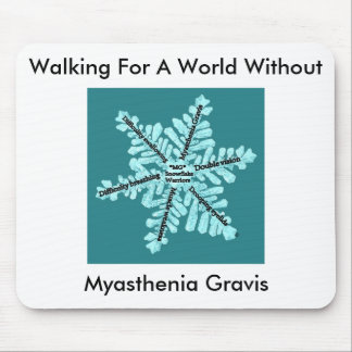 Walking For A World W/out Myasthenia Gravis Mouse Pad