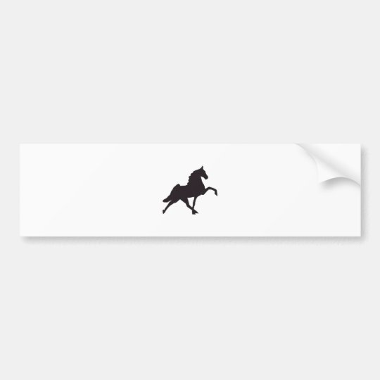 Walking Horse Silhouette Bumper Sticker
